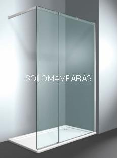 Frontal ducha mampara Serie 8000 CK - Vismara - 1 fija + 1 corredera sin cierre, 8mm