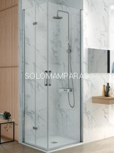 Mampara de ducha -Kassandra- Nardi (NA305) (2 puertas plegables + 1 abatible) Transparente (Antical Easy Clean)