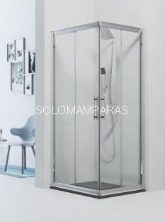 Angular de ducha Azores (2 fijas + 2 correderas) 6 mm