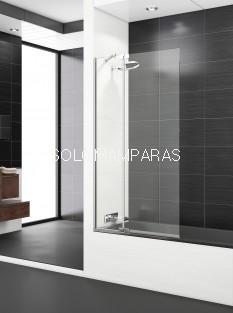 Mampara de bañera Polary Sport+F -Deyban- (1 fijo + 1 abatible) con antical de 105cm