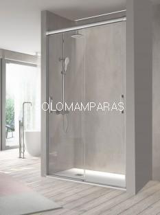 Mampara de ducha -Kassandra- Betty (BT111) (2 puertas correderas) Transparente o con Decorado Bali (Antical Easy Clean)