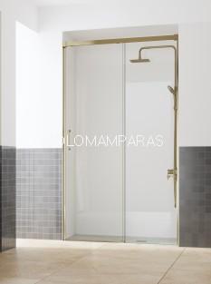 Mampara de ducha COSMOS100 ST (fijo + corredera) 6mm con antical