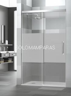 Mampara de ducha Elba Extra 6mm -Deyban- (1 fija + 1 corredera) con antical