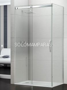 Mampara de ducha Évora -Deyban- (1 fija + 1 corredera) + 1 lateral fijo