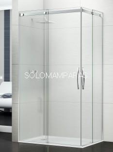 Mampara angular de ducha Évora (2 fijas + 2 correderas)