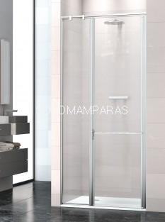 Mampara de ducha Prisma 1P/2+F -Deyban- (1 fijo + 2 abatibles) antical