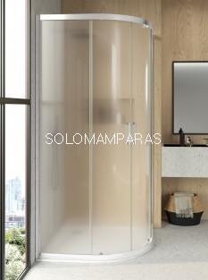 Mampara de ducha semicircular F3, vidrio carglass de 6mm y antical