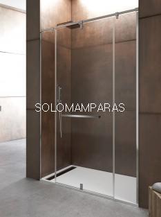 Mampara de ducha Giro 360º -GME- (1 fijo + 1 puerta giratoria + 1 fijo)