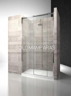 Frontal ducha mampara Gliss D3 - Vismara - 2 fijas + 1 corredera, 8mm