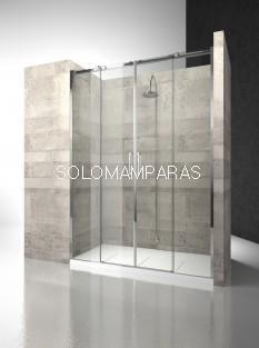 Frontal ducha mampara Gliss D4 - Vismara - 2 fijas + 2 correderas, 8mm