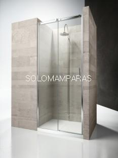 Frontal ducha mampara Gliss DN - Vismara- 1 fija + 1 corredera, 8mm