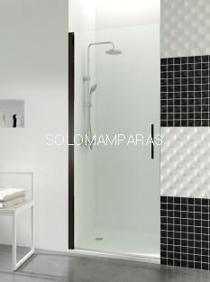 Mampara de ducha Open Black -GME- 1 puerta abatible con cierre imán a pared (COMBI A)