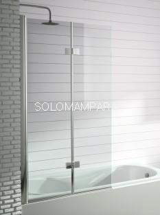 Hoja de bañera -Kassandra- serie 300 (TR573) Frente de baño plegable + abatible de 90cms (Antical Easy Clean)