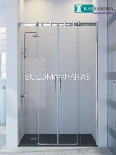 Mampara Triana -Kassandra- (TN100) 2 fijas+ 2 correderas, 8 mm (antical Easy Clean)
