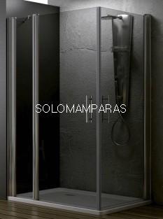 Angular de ducha Zama (1 fijo continuo + 2 puertas abatibles) 6 mm