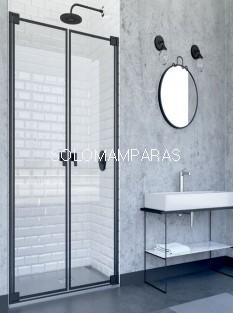 Mampara de ducha abatible Doha (Doccia Black Collection) 2 hojas abatibles