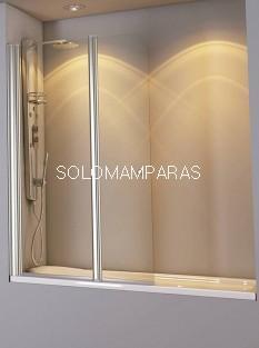 Mampara de bañera Athos 1 fijo + 1 abatible 6 mm + brazo sujeción a 45º