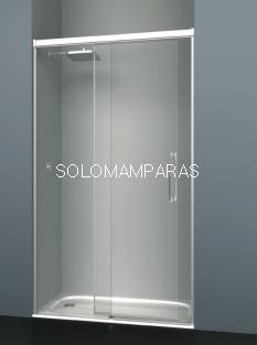 Mampara de ducha frontal Albaicín -Deyban- (1 fija + 1 corredera) 8 mm (antical)