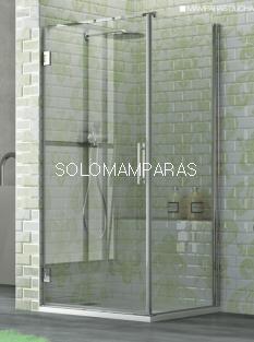 Mampara de ducha Naray 1 puerta abatible + 1 lateral fijo) 6 mm