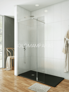 Mampara de ducha Screen 35 -GME- (1 fijo + 1 abatible) bisagra 180º con brazo sujeción