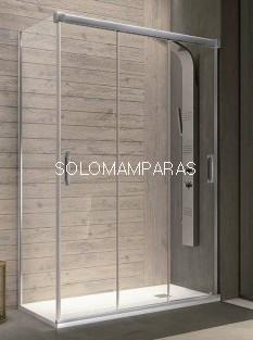 Mampara de ducha -Kassandra- Sabina (BN101+BN103) 3 puertas correderas + lateral fijo 8 mm (Antical Easy Clean)