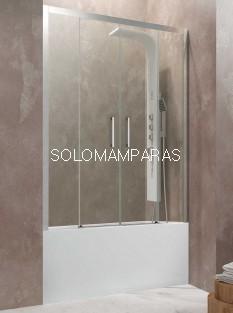 Frontal de bañera Aktual Spazio de GME, 2 fijas + 2 correderas, con antical