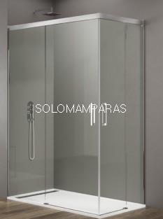 Mampara de ducha - GME- Basic (Antical), (Angular 2 fijas + 2 correderas)