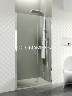 Mampara de ducha GME, Open fijo + puerta abatible, con cierre al fijo (COMBI E)