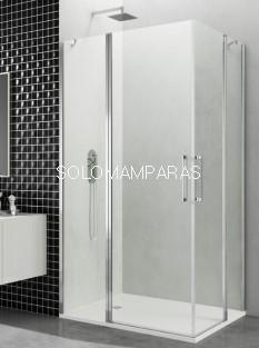 Mampara de  de ducha GME, Open,  2 fijos + 2 puertas abatible (COMBI H)