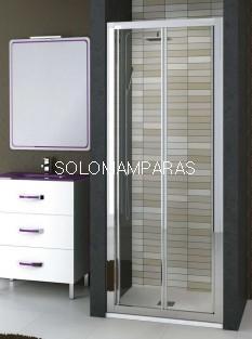 Frontal de ducha plegable Burdeos de Torvisco, cromo transparente antical incluido