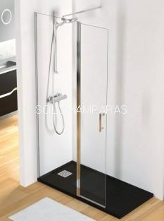 Fijo ducha -MILAN- mampara lisa, 1fija + 1 abatible, 6mm