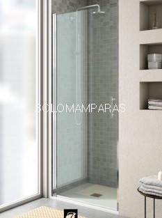 Mampara de ducha Milán (1 puerta abatible entre paredes) antical incluido