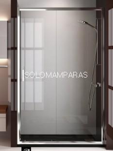 Mampara de ducha Niza (1 fija + 1 corredera) transparente antical incluido