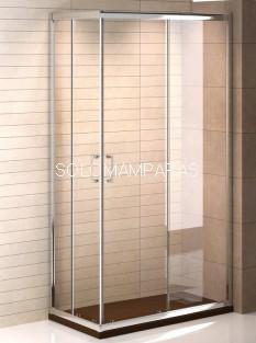 Mampara de ducha angular Niza (2 fijas + 2 correderas) transparente antical incluido de serie
