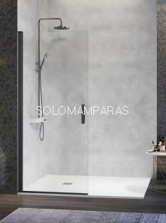 Mampara de ducha Nardi -Kassandra- (NA520) Transparente, perfil negro (1 abatible sin perfil de cierre)