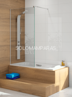 Fijo de bañera -Kassandra- serie 300 (TR153) Hoja de bañera fija de 85cms (Antical Easy Clean)