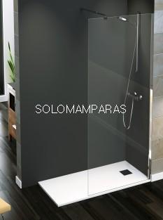 Mampara Rimini (Fijo de ducha) Cromo 8mm, Transparente o Serigrafía antical incluido