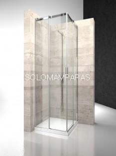 Angular ducha mampara Serie 8000 CA+CA - Vismara - entrada vértice 8mm
