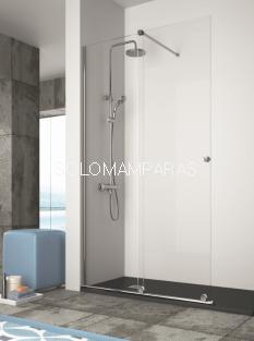 Mampara de ducha de -Kassandra- Volare (VO102) 1 fija + 1 corredera, sin cierre (antical Easy Clean)