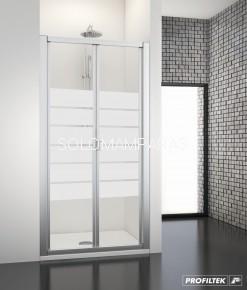Mampara de ducha Dumas -Profiltek- (plegable) en vidrio