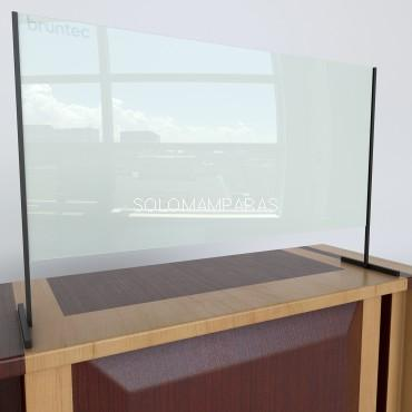 Separador de mostrador de cristal 6mm Protek 600 (Altura 70cm)