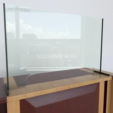 Mampara protectora con ventana cristal 6mm Protek 700 (Altura 70cm)