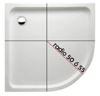 Este croquis sirve para poder conocer el radio de nuestro plato de ducha y poder elegir la mampara correcta